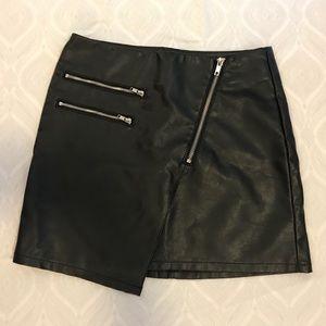 HM: Asymmetric Faux Leather Skirt
